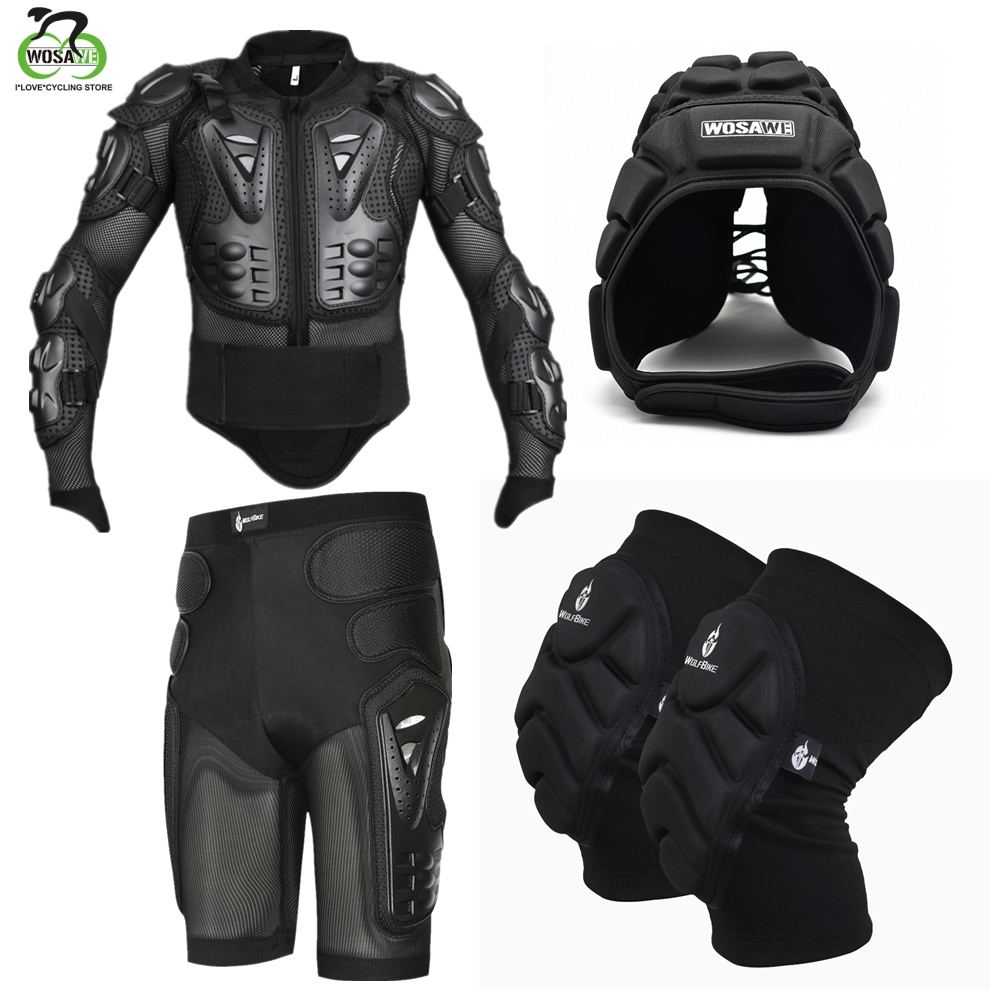 WOSAWE Motorcycle Racing Jakcet Motocross Full Body Armor Jacket Spine Chest Back Hip Pad Protector Snowboard Ski Skate Sports