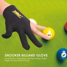 Бильярдные перчатки snooker для бильярда с вышивкой гладкие