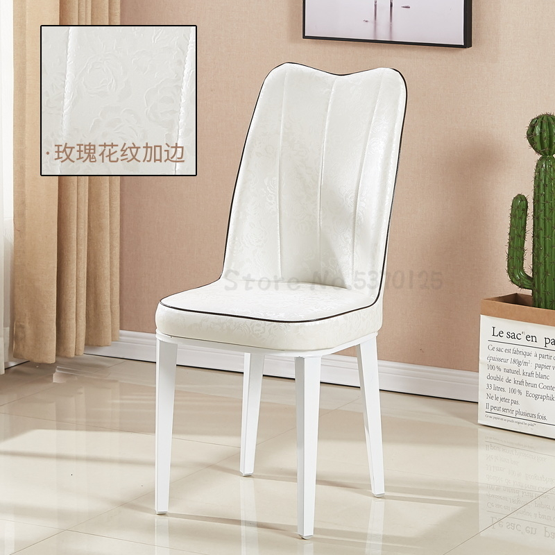 Dining Room Furniture Europe And America Modern Soft Leather Chair Comedores Modernos Muebles Embossed Leather Finish