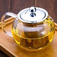 650ml 960ml 1300ml Heat Resistant Glass Teapot Induction Cooker With 304 Stainless Steel Strainer