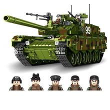 цена на hot military technic ww2 army Heavy main battle tank war Building Blocks model mini soldier figures brick toys for children gift