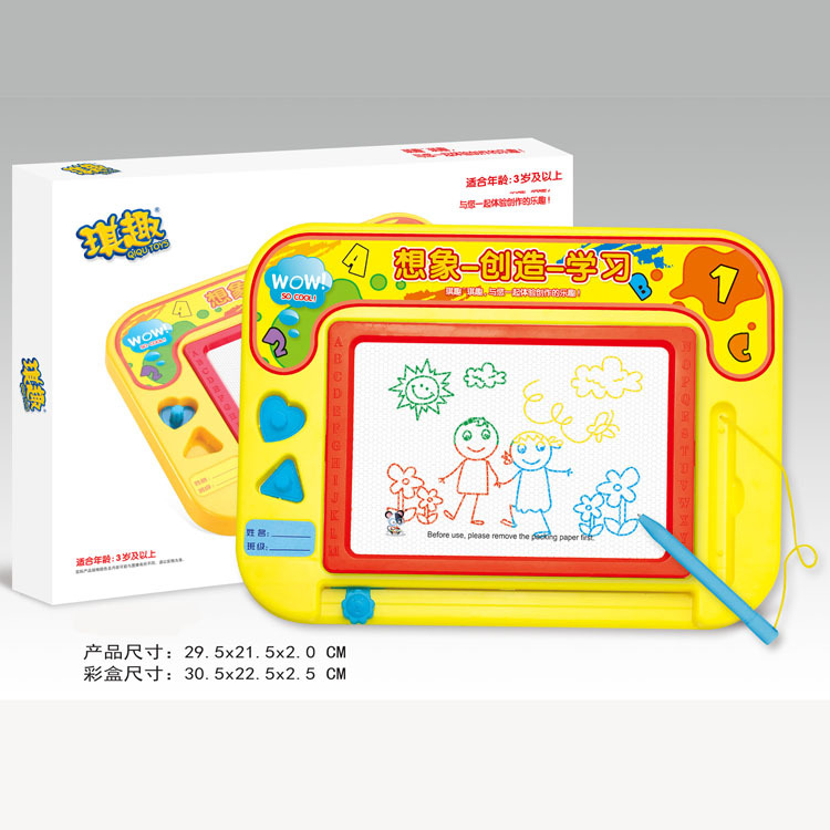 Children Early Education Toy Color Magnetic Stamp Sketchpad Drawing Doodle Board Magnetic Drawing Board 931
