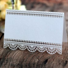50pcs/set Wedding Invitations Paper Post Card White Laser Cut Love Seats Hollow Table Invitation