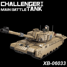 NEW XINGBAO 06033 Military Series 1441pcs The Challenger II Main Battle Tank Set Building Blocks Bricks Tank Model Building Kits