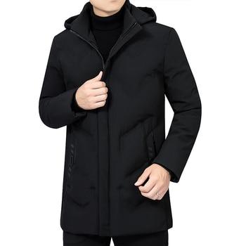 2020 new Winter Jacket Men Thicken Warm Men Parkas Hooded Coat Fleece Man's Jackets Outwear Windproof Down Parka