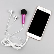3.5MM canlı telefonu evrensel kablolu mikrofon küçük mikrofon mini buğday kulaklık kulak için Tik Tok çocuk aksesuarları kızlar için