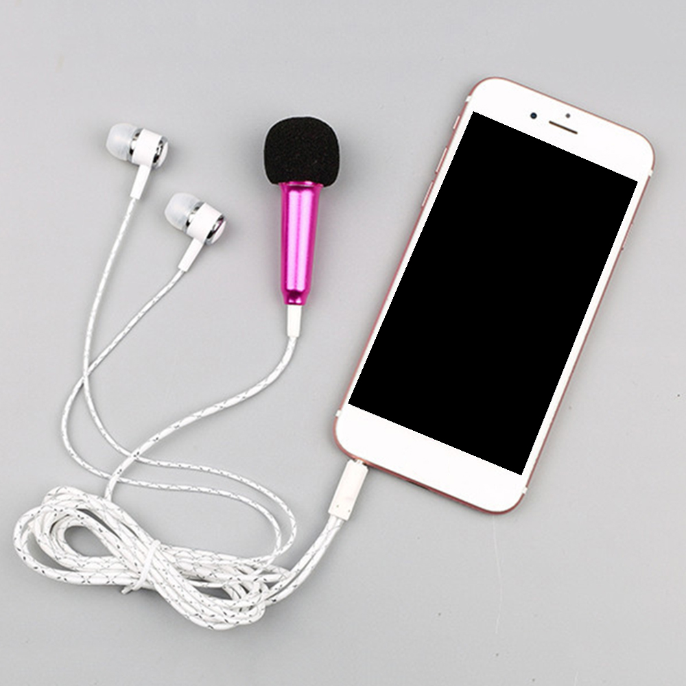 Live Phone Universal Wired Microphone Small Microphone Mini Capacitor Wheat Headset In-ear For Tik Tok
