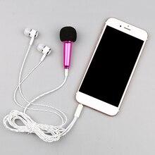 Microfone com fio universal, mini microfone ao vivo, headset de 3.5mm para crianças e bebês para meninas