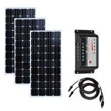 Solar Home Kit 450w Panel 12v 150w 3Pcs Charge Controller 12v/24v 30A Charger Battery Rv Motorhomes Caravan