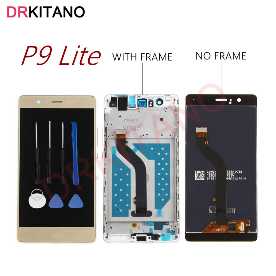 VNS-L21 Display Huawei P9 Lite LCD Display Touch Screen With Frame VNS-L31 VNS-L23 For  Huawei P9 Lite LCD Screen Replacement