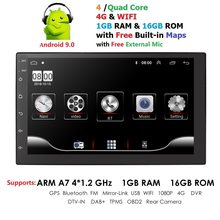 2 Din Mobil Radio Android 9.0 Universal 7 Inch Sentuh Layar Mobil Audio Stereo Bluetooth Wifi FM USB Mobil Multimedia MP5 MIC DAB + DVR(China)