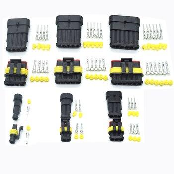Connecteur étanche   Kit 2 broches 1/2/3/4/5/6 p 1/p connecteur de fil électrique étanche AMP Super étanche pour voiture