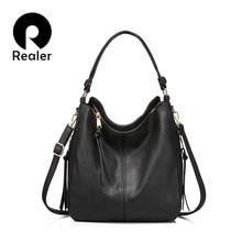 Realer Vrouwen Handtassen Vrouwelijke Crossbody Schoudertassen Hoge Kwaliteit Pu Leer Messenger Bags Voor Dames Grote Bakken Grote Capaciteit