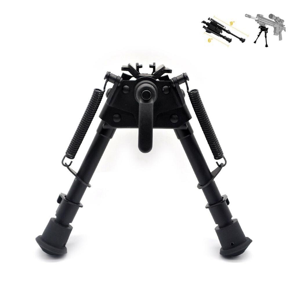 6-9 inç Harris tüfek tabanca Bipod döner modeli w/ Pod-kilit teleskopik ayak taktik/keskin nişancı profil Harris QD Sling Bipod