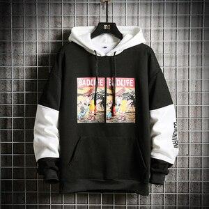 Image 3 - SingleRoad Mens Hoodies Men Winter Fleece Anime Printed Sweatshirt Male Hip Hop Japanese Streetwear Harajuku Yellow Hoodie Men