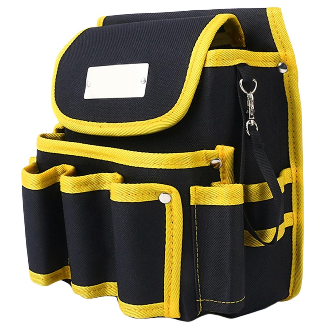 Adjustable Belt Pocket Pouch Telecommunications Holder Electrician 600D Water Proof Cloth Rivet Fixed Tool Bag 23 X 13 X 23cm