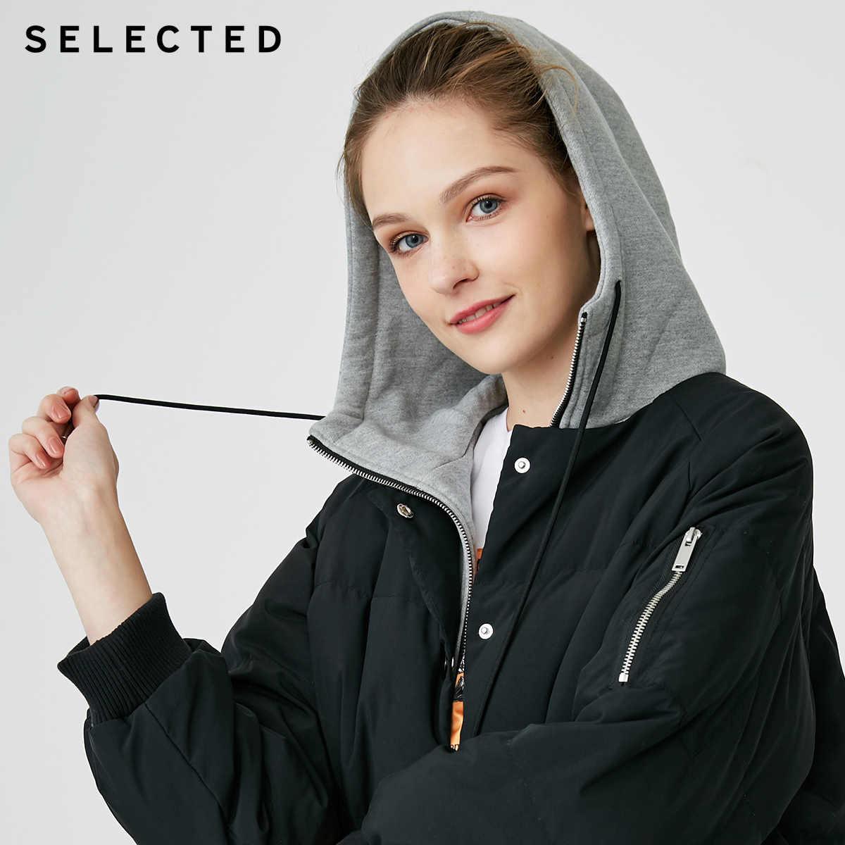 Отборный Зимний новый женский пуховик средней длины с капюшоном на утином пуху S | 418412555