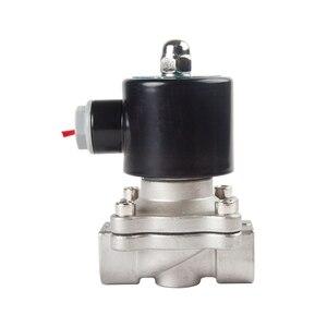 "Image 5 - الفولاذ المقاوم للصدأ الكهربائية الملف اللولبي صمام 1/4 ""3/8"" 1/2 ""3/4"" 1 ""عادة مغلقة هوائي للمياه النفط الهواء الغاز 12 فولت/24 فولت/220 فولت/110 فولت"