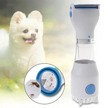 Elektryczna szczotka na pchły bezpieczne wszy dla zwierząt zabija środek do czyszczenia włosów dla kotów psy fizyczne pchły kleszcz Capture Comb artykuły dla zwierząt tanie i dobre opinie Skrzynki na śmieci CN (pochodzenie) gua0243