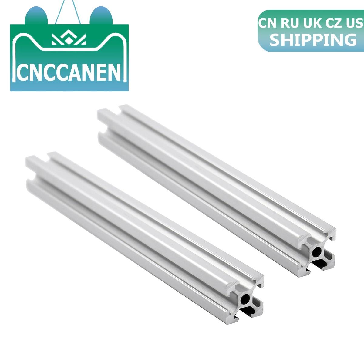 2PCS 2020 Aluminium Profil Extrusion 2020 Europäischen Standard Linear Schiene 100mm zu 2000mm Länge für CNC 3D drucker Teile CZ UK UNS