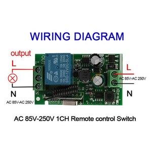 Image 3 - QIACHIP 433 Mhz 86 ألواح للحائط RF الارسال التحكم عن بعد التبديل 433 Mhz RF التتابع اللاسلكية التيار المتناوب 110 فولت 220 فولت 1 CH وحدة الاستقبال