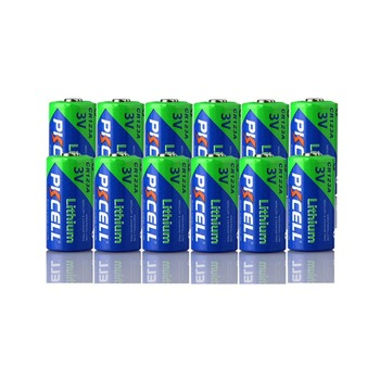 12Pcs Pkcell CR123A 3V Lithium Li- MnO2 Battery Equal CR123 123A CR17345 KL23a VL123A DL123A 5018LC EL123AP For Led Flashlight 12pcs pkcell lithium battery cr123a cr 123a cr17345 16340 cr123a 3v non rechargeable batteries for camera gas meter primary dry