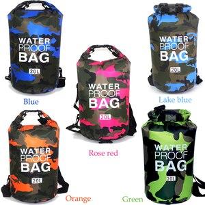 Image 4 - Outdoor Bag Camouflage Portable Rafting Diving Dry Bag Sack PVC Waterproof Folding Swimming Storage Bag for River Trekking