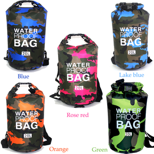 Image 4 - Sac sec de Camouflage en PVC, pour activités dextérieur, pour plongée, Rafting, Trekking et Trekking en rivière, pliable et étanche