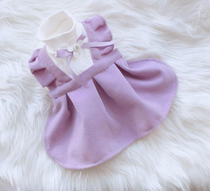 Girl Dog Cat Dress Tutu Flowers Design Pet Puppy Skirt Spring/Summer Clothes Outfit 5 Sizes 2 Colours