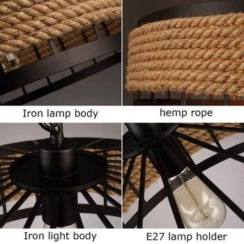E27 Hennep Touw Opknoping Lamp Vintage 6