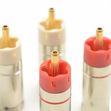 HIFI qualité Hifi bricolage plaqué or tellure cuivre/plaqué argent connecteurs haut parleur RCA fiches 9mm étoile ligne 2 paires/4 pièces