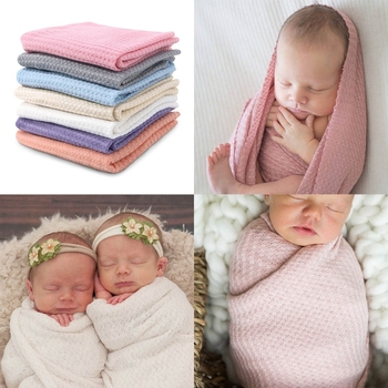 Newborn Baby Knitted Swaddle Wraps Receiving Blanket Infants Toddler Baby Blanket Photography Props Photo Shooting Accessories handmade blanket for newborn baby photo props crochet rose flowers pink floral knitted receiving blankets photography props