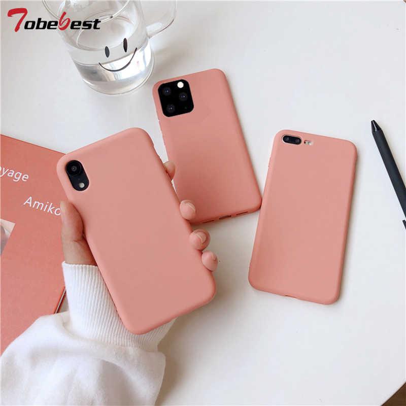 Custodia per telefono opaca arancione corallo per iphone 12 11 Pro XS Max XR X 8 7 6S 6 Plus custodia in Silicone Cover posteriore in TPU morbido ...