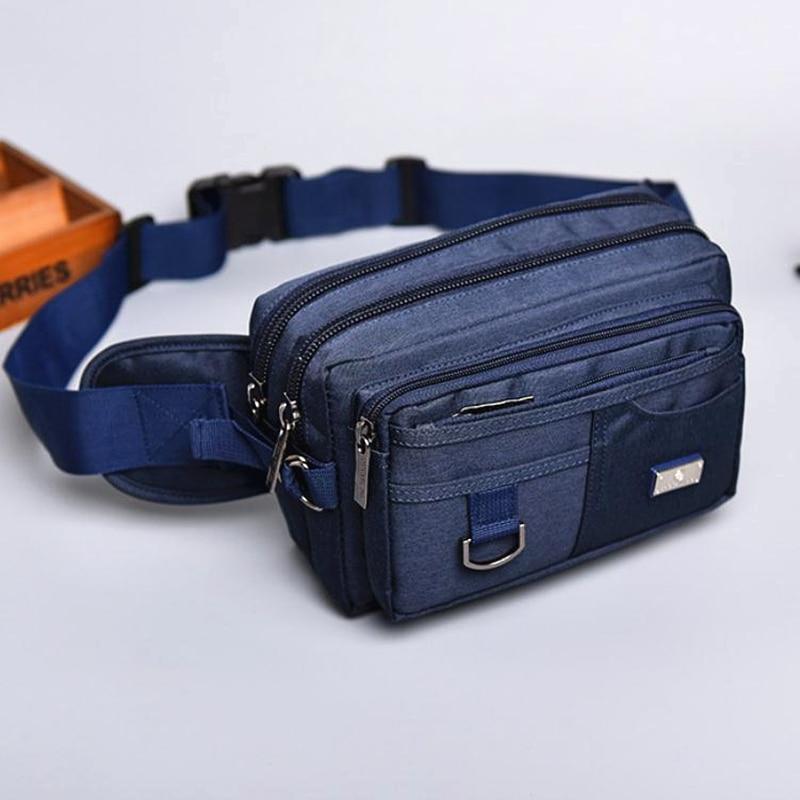New Arrival Canvas Men Waist Packs High Quality Messenger Bags Multi-function Mens Waist Bag Casual Male Travel Bags Belt Wallet