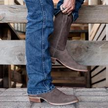 Fashion Men Top Quality PU Leather Slip on Boots Men's Suede Waterproof Chelsea Boots Male Casual Zapatos De Hombre LP373