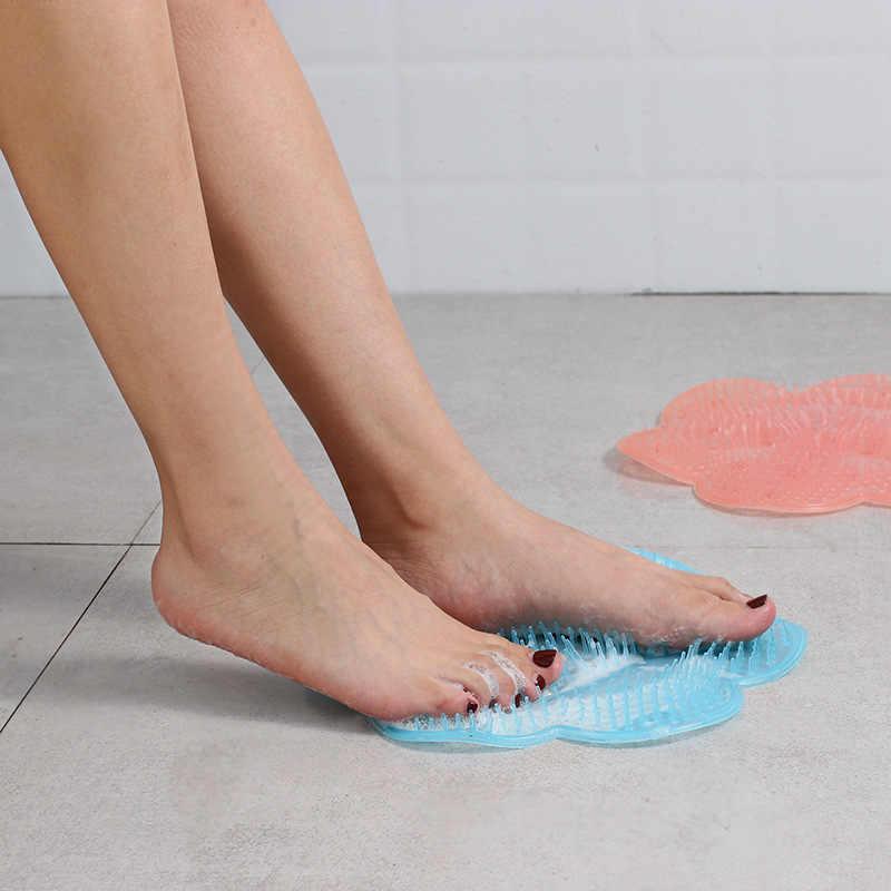 Banho de silicone chuveiro volta escova massageador banho pé escova pele morta anti skid almofada tapetes banho