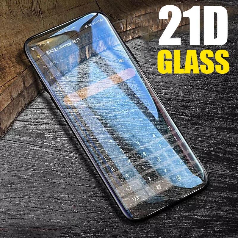 21D couvercle complet verre trempé pour Huawei P20 Lite P30 Pro verre pour Huawei Mate 20 Lite 30 Pro Y6 2019 Film de protection d'écran
