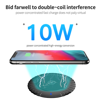 FLOVEME Qi Wireless Charger 10W Fast Wireless Charging Pad Usb Phone Charger For iPhone 8 11 Pro XS Max XR For Samsung S10 S9 S8 2