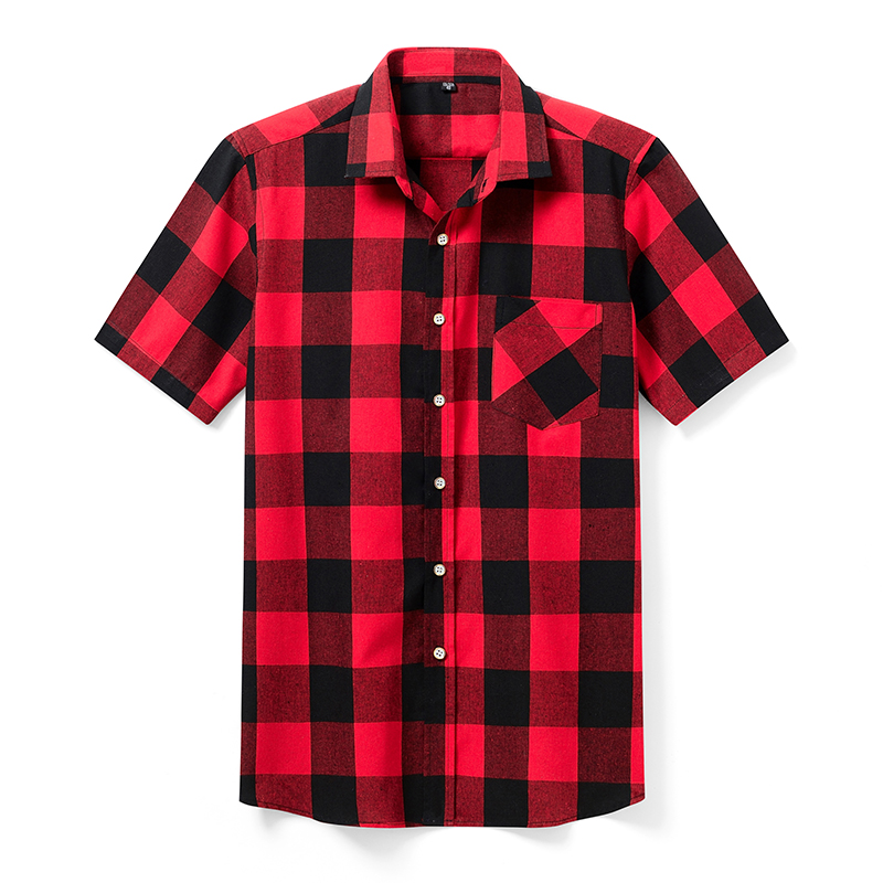 Aoliwen Brand High Quality Men's Casual Shirts, Men's Plaid Casual Shirts, Short Sleeve Men's Shirts, Men's Model Shirts