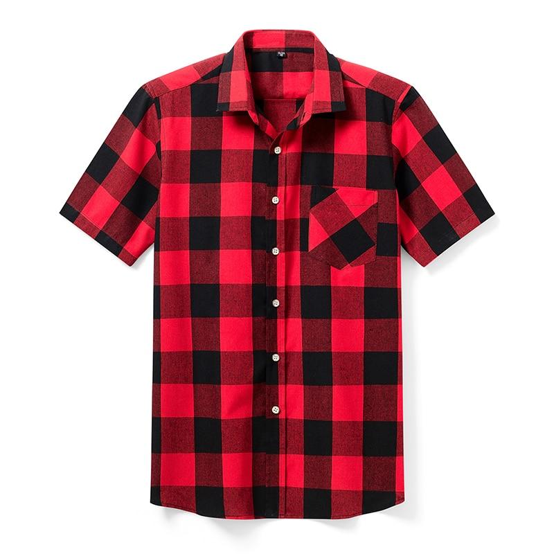Aoliwen Brand High Quality Men's Casual Shirts, Men's Plaid Casual Shirts, Short Sleeve Men's Shirts, Men's Model Shirts