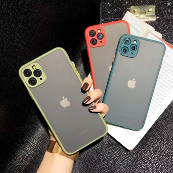 Matte Bumper Camera Protection Phone Cases For iPhone 11 XR XS Max SE 2020 6 6S 7 8 Plus Shockproof Translucent Back Cover Capa image