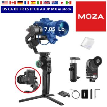 MOZA AirCross 2 gimbal with Moza iFocus-M follow focus motor for DSLR mirrorless camera payload up to 7.1lbs 12 hours running time