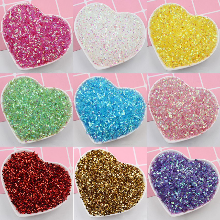 Happy Monkey 30/50g Bingsu Beads Slime Additives Iridescent Beads Supplies DIY Sprinkles Kit For Fluffy Clear Crunchy Slime Clay