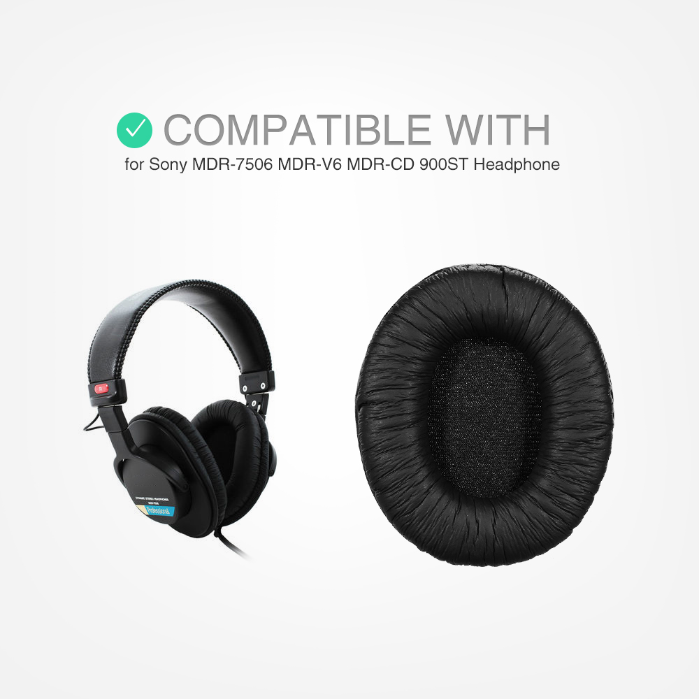 Replacement Memory Earpads Ear Pad Cushion for Sony MDR-7506 MDR-V6 MDR-CD 900ST Headphones