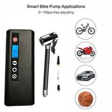 Pompa przenośna Inflator elektryczna pompka rowerowa 150 PSI sprężarka powietrza samochodowa Inflator akumulatorowa pompka do opon do piłki rowerowej