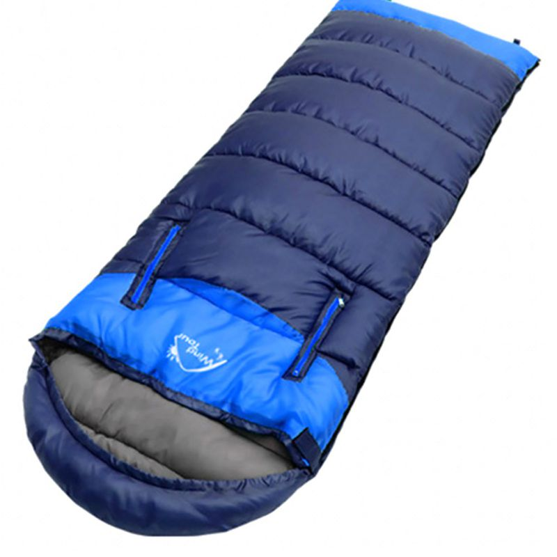 Camping sac de couchage 190T Polyester taffetas pongé creux coton enveloppe Type Patchwork adulte hiver extérieur voyage imperméable