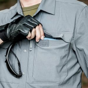 Image 5 - Setor sete 2020 nova camisa tática dos homens camisa militar combate camisa masculina secagem rápida respirável elasticidade casual manga longa