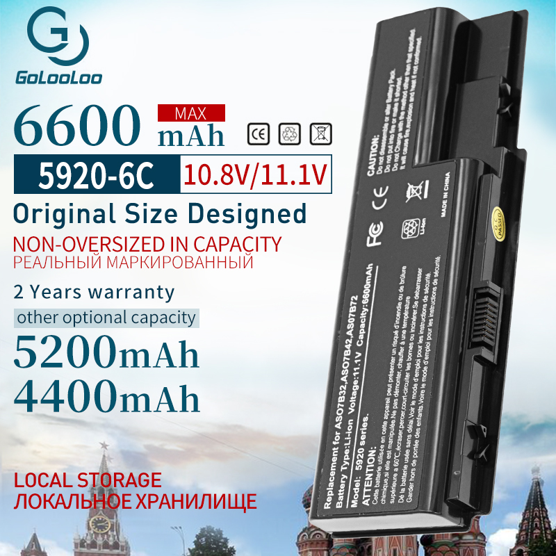 6600 mAh 6 cells laptop battery FOR Acer Aspire AS07B31 AS07B32 AS07B41 AS07B42 AS07B51 AS07B71 5520 5230 5235 5310 5315 5330battery for acerlaptop batterylaptop battery for acer -