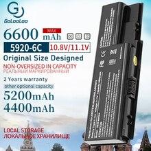 6600 mah 6 células bateria para computador portátil, para gigabyte aspirata as07b31 as07b32 as07b41 as07b42 as07b51 as07b71 5520 5230 5235 5330