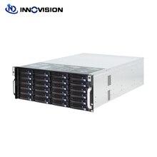Супер огромный хранения 24 отсеков 4u hotswap стойки NVR NAS серверного шасси S46524